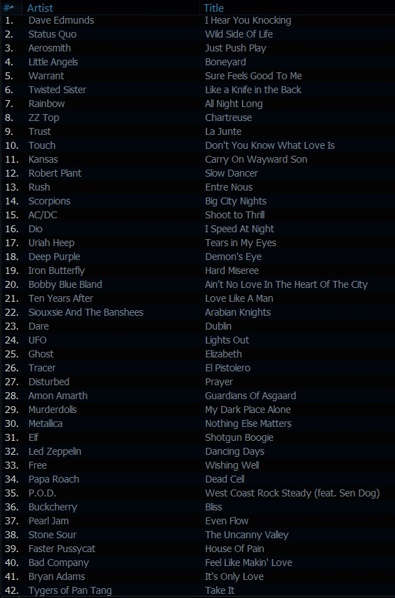 The Classic Rock Show playlist 27th June 2013