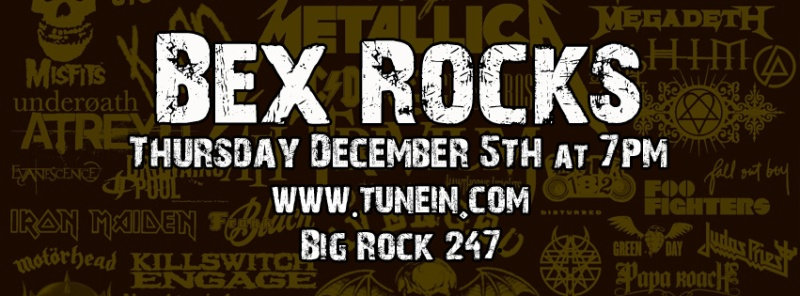 Bex Rocks December 5th @ 7pm
