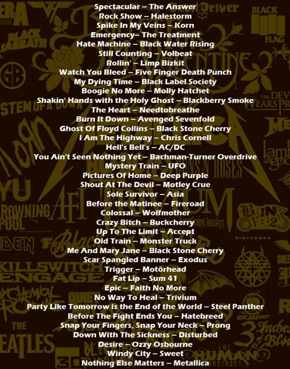 'Bex Rocks' playlist March 6th 2014