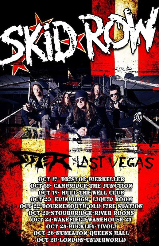 Skid Row UK Tour poster