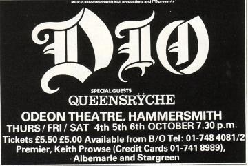 Dio Last In Line tour
